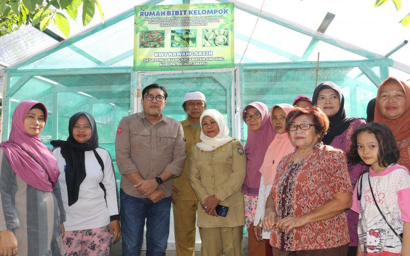 Bersama Kelompok Wanita Tani (KWT) Desa Penganjang,  Indramayu