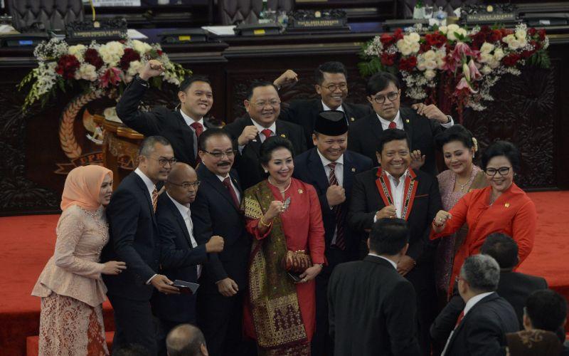 Sesi Fhoto Setelah Rapat Paripurna Presiden, MPR, DPR RI & DPD