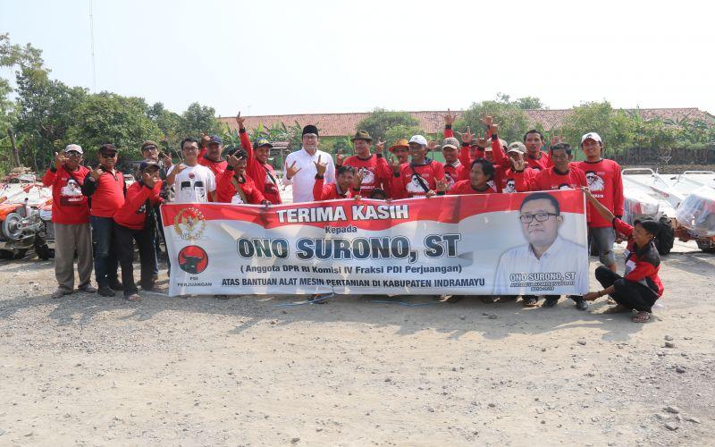 Penyaluran Program Bantuan ALSINTAN ke petani Indramayu